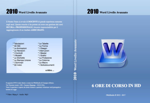 Copertina Word 2010 Livello Avanzato
