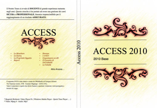 Copertina DVD Access 2010 Livello Base